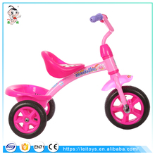 2017 new model plastic 3 wheel bicycle baby trike with back basket