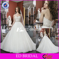 XL904 sweet heart neckline heavy beaded ball gown low back 2014 kids princess wedding dresses