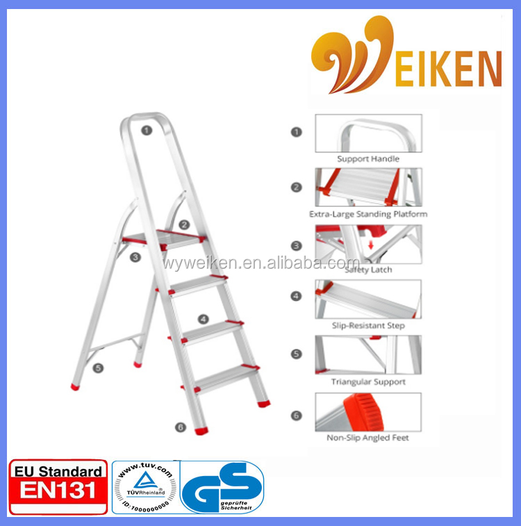 Wide step foldable and extendable Ladder