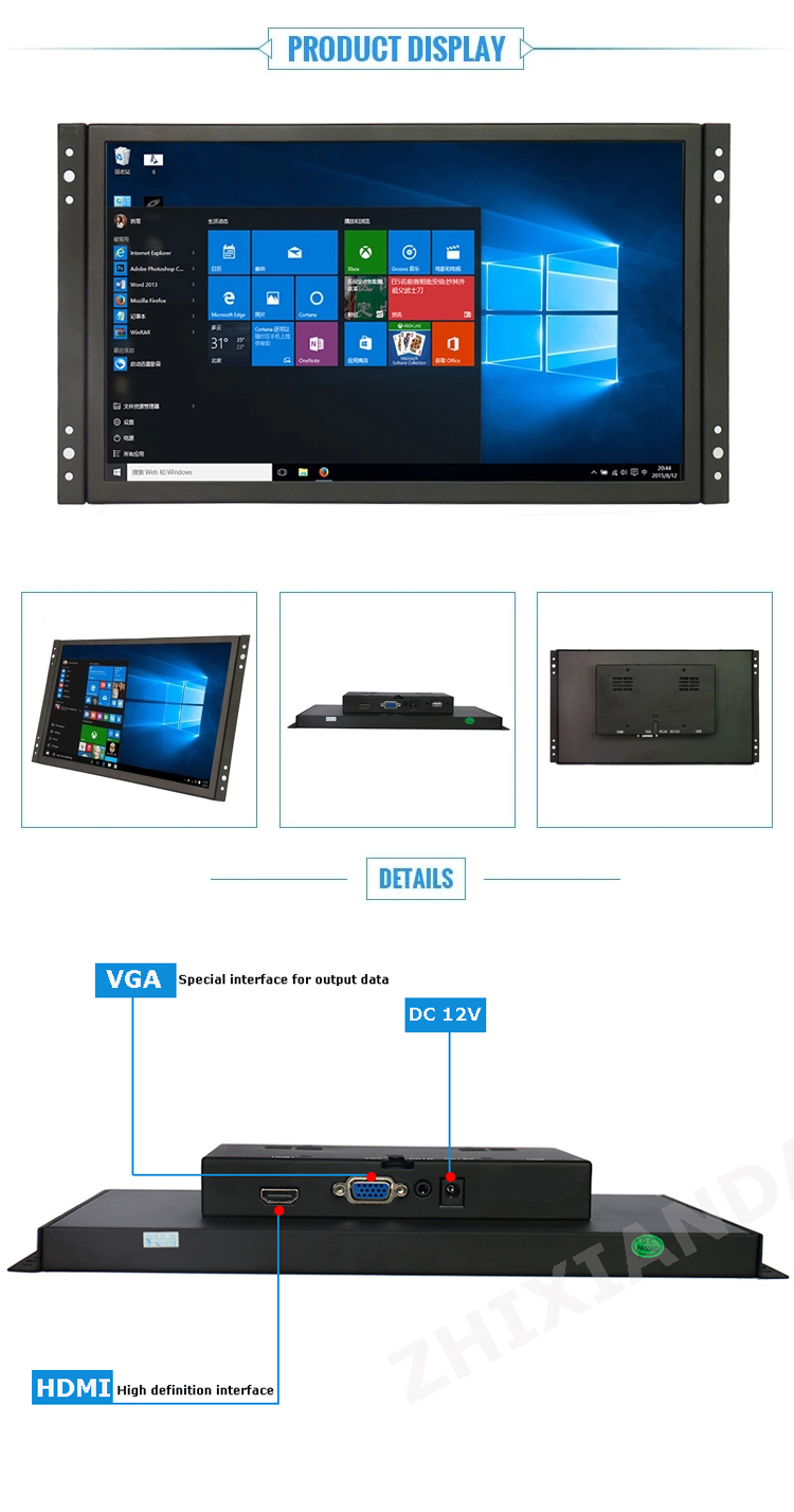 Widescreen 11.6'' 12'' IPS Capacitive Open Frame USB Touch Screen Monitor Support Raspberry Pi Android