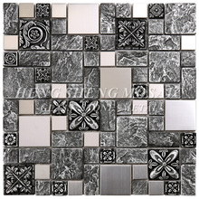 Hot Sale Bronze Antique Resin Mixed Art Carve Pattern Mosaic Tile For Interior Decoration Wall Latest Design