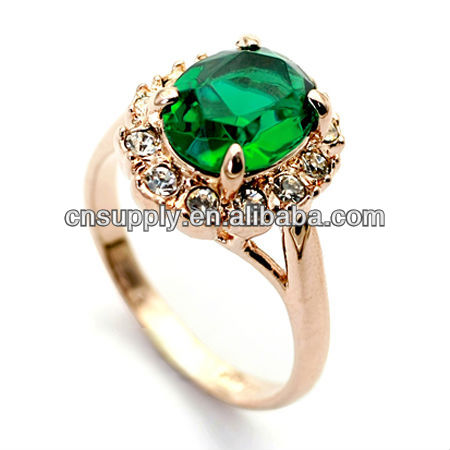 Wholesale Green diamond price per carat ring With Crystal For Lady Gifts