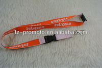 High Quality Satin Ribbon Printing Lanyard with Retractable Buckle