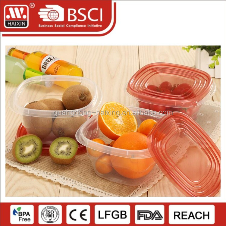 Wholesale plastic fruit storage box food packing containers for orange/pineapple/candy/cookie/chocolate containers
