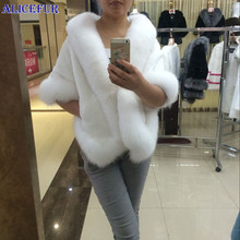 Wholesale Elegance Real Rex Rabbit Fur Shawl / Poncho / Jacket / Coats