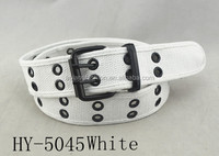 2017 custom printed personalize eyelet webbing web cotton belt