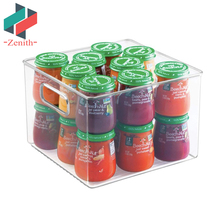ZNF00070 Clear Freezer Pantry Cabinet Refrigerator Drawer Organizer for Kitchen