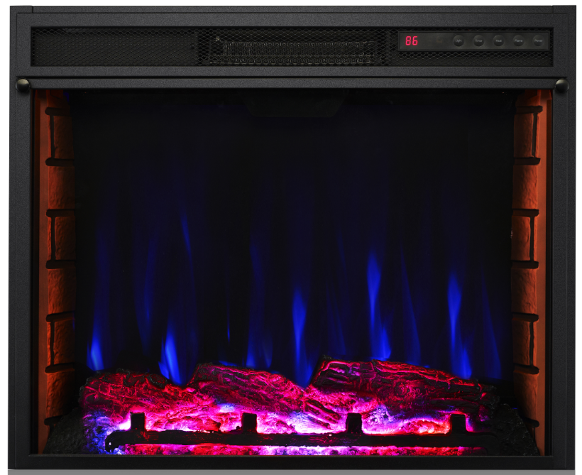 7 color lighting 1500w electric fireplace
