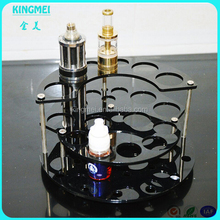 Round stand bottom acrylic sole display e cigarette display plexiglass display stand