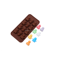 Manufacturers supply 15 cute doll shaped silicone chocolate mold candy mold pudding mold with low price