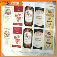 Fashion Samples Of Wine Label,High Frequency Embossing Label