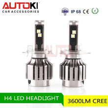 Autoki High power H4 Led Headlights For Cars Led High/low Beam Adjustable