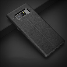 Skin Pattern TPU Soft Case Litchi Texture Anti-skid Scratch Resistent Protective back Cover for Samsung Galaxy Note 8 CA6036