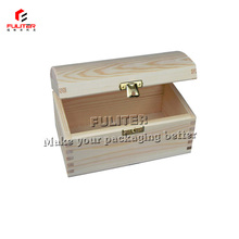 Wholesale unfinished wood treasure boxes for jewelry