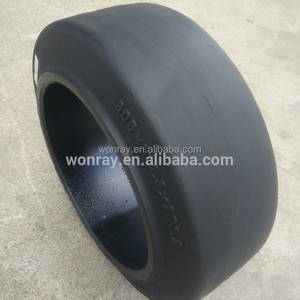 low speed smooth pattern press on tires 12x5x8 12 inch solid rubber wheels for forklift