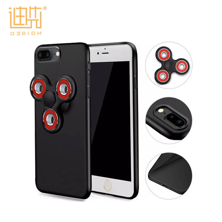 Latest fashion MOQ=50 PC mobile phone case For Iphone 6/6s with dismountable fidget spinner