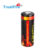 trustfire 5000mah rechargeable 26650 battery deep cycle life 3.7v li-ion 26650 battery