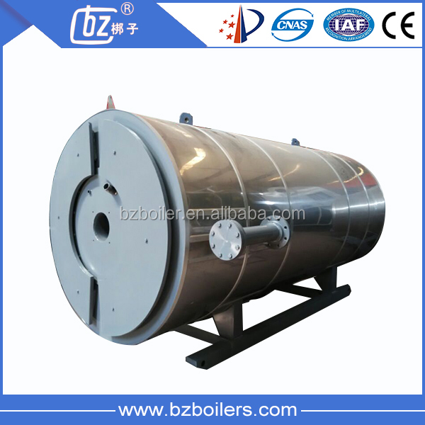 Horizontal and industrial thermic fluid natural gas fired thermal oil heater boiler