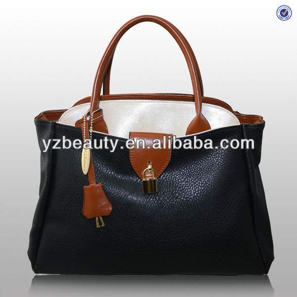 2014 Handmade fashion women designer leather handbags made in china