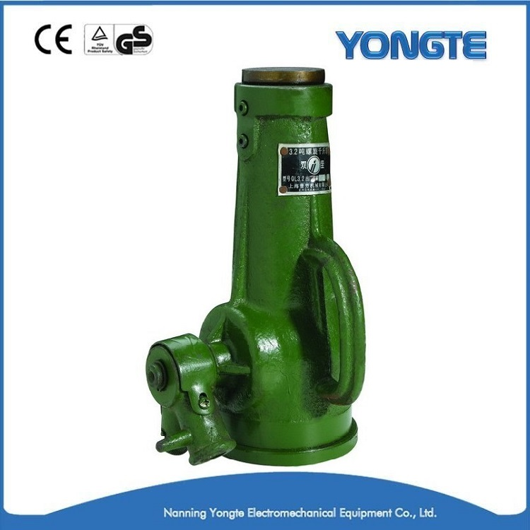 Green Mechanical Screw Jack Used For Car Lift Made in China
