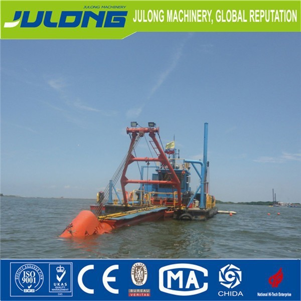 hydraulic sand dredge / julong best selling cutter suction dredger /dredging boats for sale