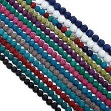 4-14MM Colorful Chakra Semi Precious Natural Round Lave Stone Gemstone Loose Beads For Diy Jewelry Making