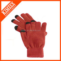 Soft sensitive touch gloves for touch screen