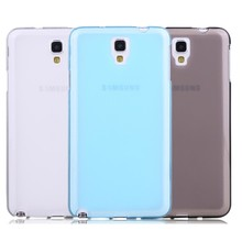 Ultra Thin Transparent Silicon Cover Case for Samsung Galaxy Note3 Neo N7505 , Pudding Soft Silicon Case for Samsung N7505