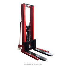 Factory price 1500kg Double Mast Fixed Fork Manual forklift Pallet Stacker