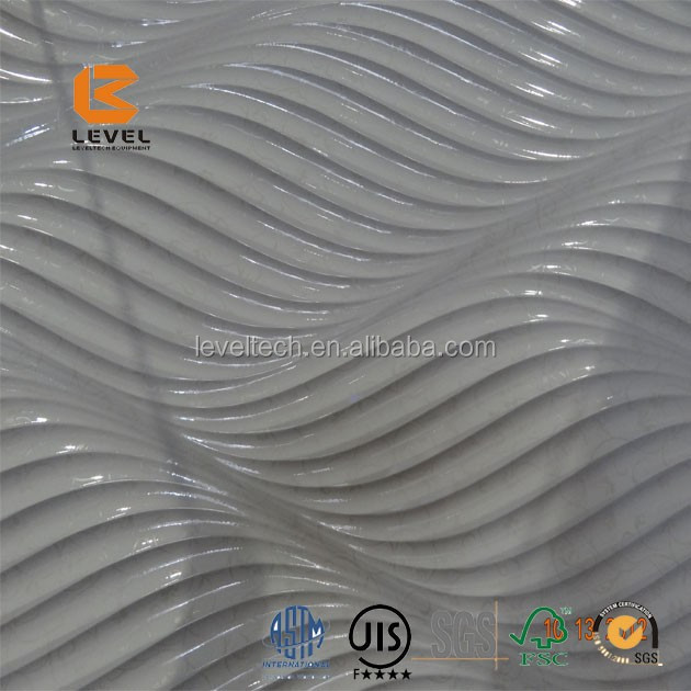 PVC Finish 3D MDF Texture Wall Panels Interior Decoration Board