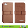 2014 hot sale OEM high quality Factory price smooth waterproof credit card wallet leather case For Iphone6
