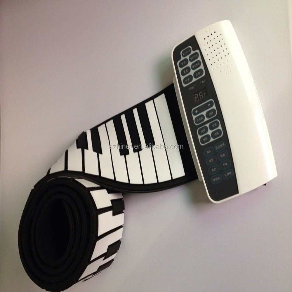 Portable Flexible Roll Up Electronic Piano 88 Keys Soft Keyboard MIDI