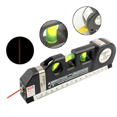 Laser <strong>Level</strong> with Tape Measure Pro 3 (250cm), LV-03(Black)