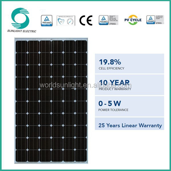 Made In China Monocrystalline Silicon 280w Pv Small Size