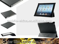 ultra slim leather case for the new ipad&smart cover function