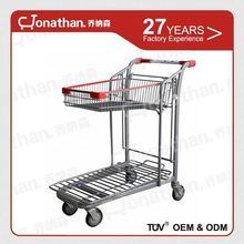 SXE-9 heavy duty wire foldable warehouse trolley cart
