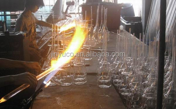 High temperature thermocouple protection clear round quartz glass tube