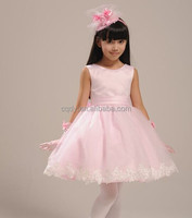 Honey Cute Cheap Prom Dress Children Garments Pink Lace Wedding Dress 3-5 year old