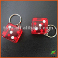 transparent dice key chain