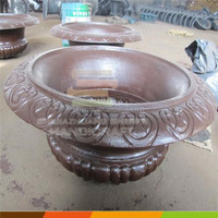 garden metal flower pot for decoration