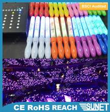 concert and event product plastic flashing led light stick with remote control