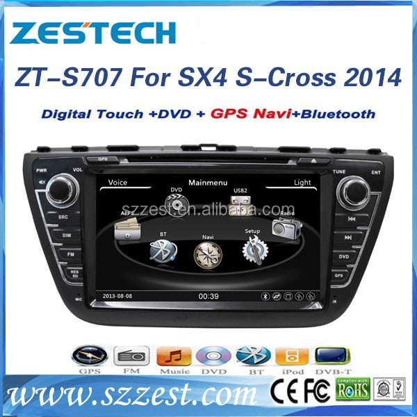 ZESTECH A8 CHISET 7 INCH HD touch screen CAR DVD PLAYER FOR SUZUKI SX4 2014 CAR DVD GPS NAVIGATION SYSTEM+FULL MULTIMEDIA