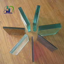 4.38mm to 38mm various designs thickness and colors tempered laminated glass