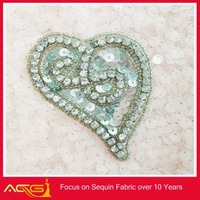 Crystal Beaded Applique, Rhinestone Applique 1 Piece lastest shinny crystal bling DIY metal band patches