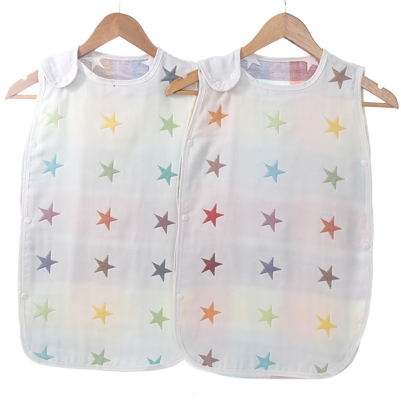2018 new style pure cotton five-layer star jacquard gauze baby sleeping bag