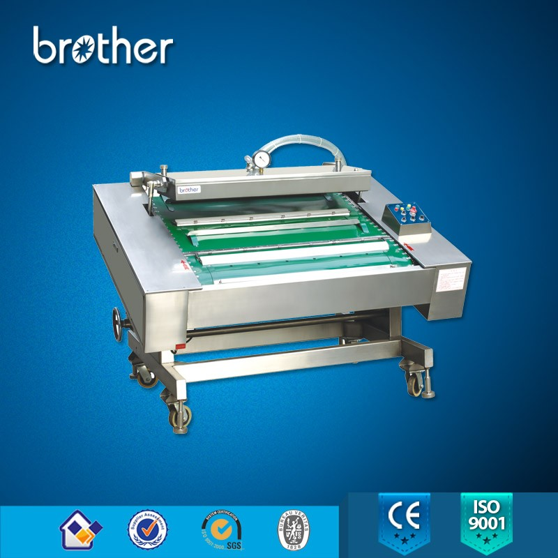 Fully Automatic Chamber Continuous Vacuum Sealer Packing Machine for bags meat fish food