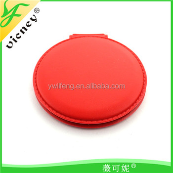 Compact Red Mirror for Best Tourist Gifts / Custom Logo Small Mirror