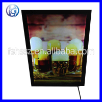 aluminum front open customized advertising poster frame with light HS-K28