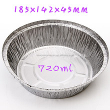 round aluminum foil baking trays with paper cover