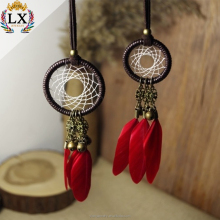 Small 100% handmade Dream Catcher With Three Wind Chime Tubes dream catcher supplies